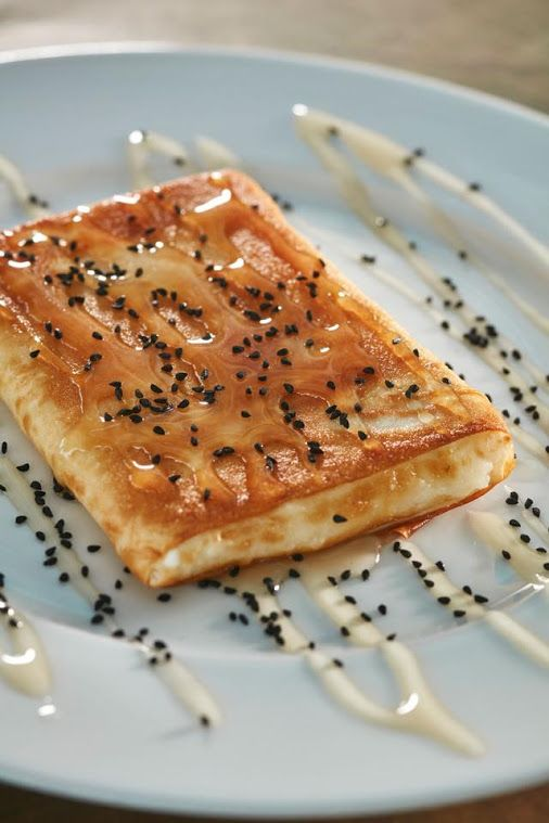 Feta cheese with honey. Delicious...  www.aarhotel.gr/restaurant #Fetacheese #Honey #Aarhotel #Sen5es_Restaurant #Boutiquehotel #Ioannina #Epirus #Greece