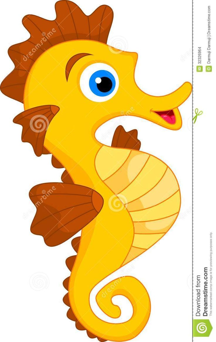 animated seahorse clipart | Illustration of Cute Seahorse ...
