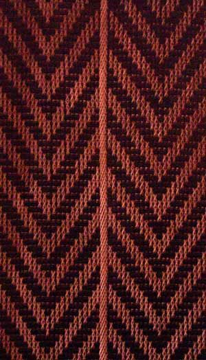 This turapa (tukutuku) pattern, called Te Ara, is unique to Te Arawa. It symbolises the voyage of the canoe Te Arawa from Taputapuatea to Maketū 26 generations ago.