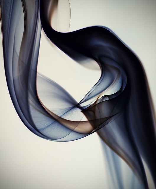 'Smoke Art #1 – Layers of Silk' (2010) by artist Ben Torode. via the artist on flickr