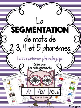 Develop phonemic awareness by segmenting words into 2, 3, 4 and 5 French phonemes.  Elkonin boxes build phonological awareness skills by segmenting words into individual phonemes or sounds. Point to a box, or move a token into a box for each phoneme or sound.