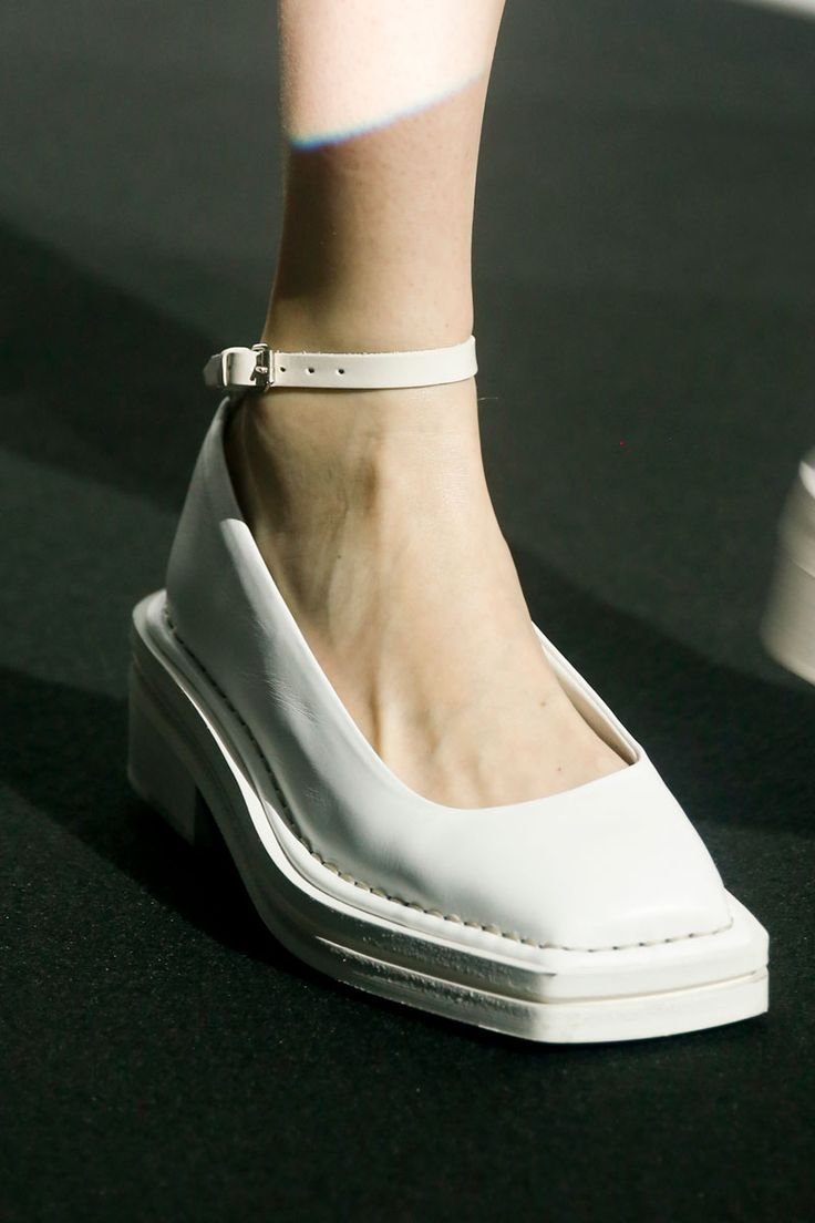 Acne Spring 2014.  These shoes make me scream with laughter.  They look like fashion footwear for an inpatient mental hospital, residents and nurses alike.