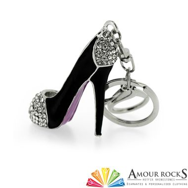 large stiletto key ring