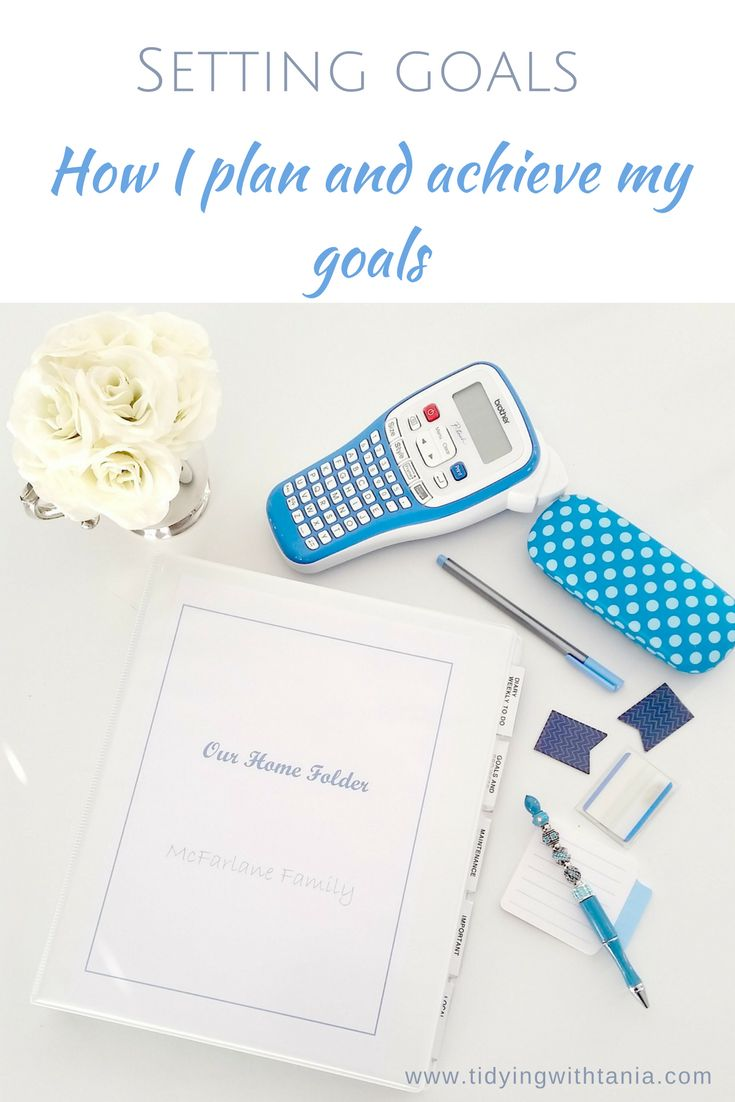Sharing simply steps on how to plan and achieve goals for the year.