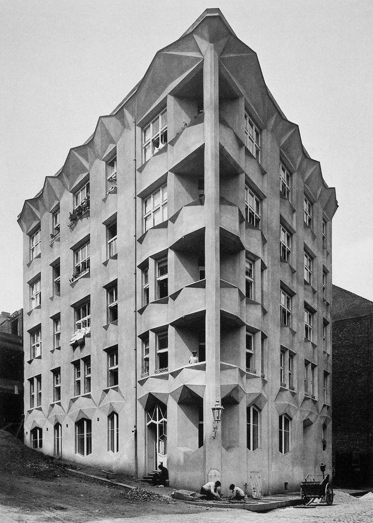 Hodek Apartment House, Vyšehrad quarter, Prague  Architect: Josef Chochol, 1913