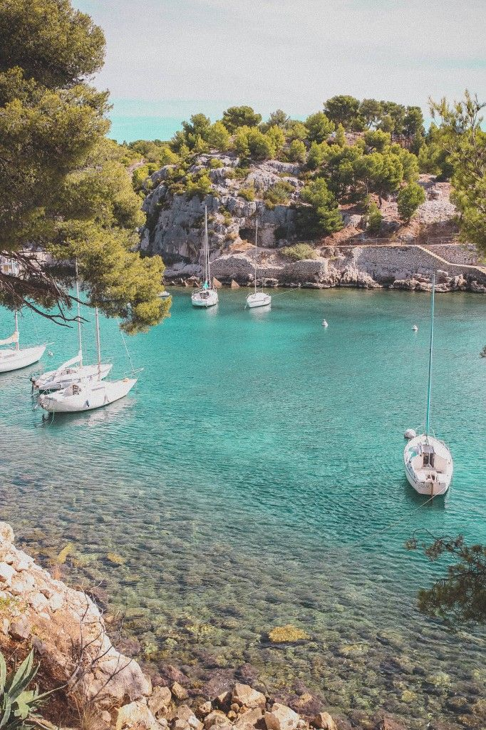 Cassis, France. Beautiful day spent exploring Cassis and cruising the calanques.