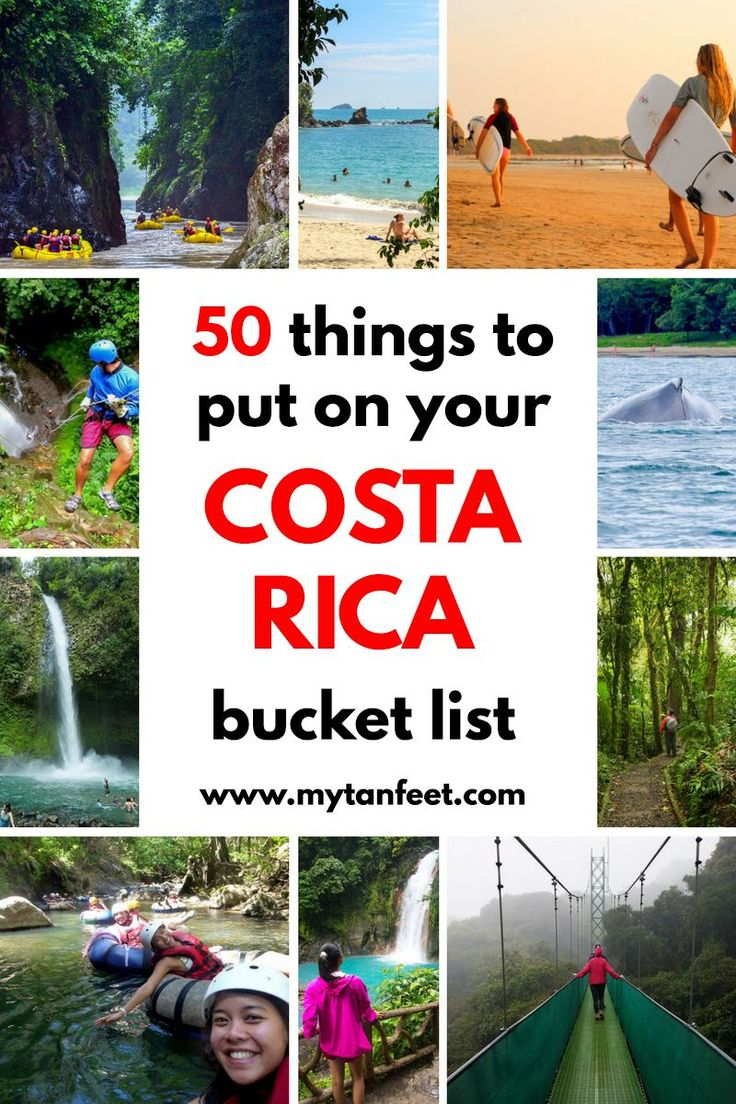 50 things you have to put on your Costa Rica bucket list: http://mytanfeet.com/activities/50-activities-things-to-do-in-costa-rica/