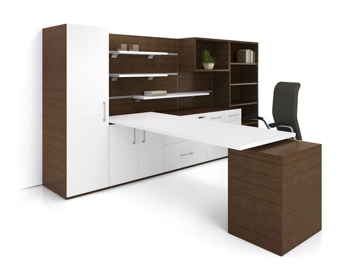 Mobilier de bureau exécutif, Essentia, en bois. Par Artopex. http://www.mabprofil.qc.ca/mobilier-de-bureau.html