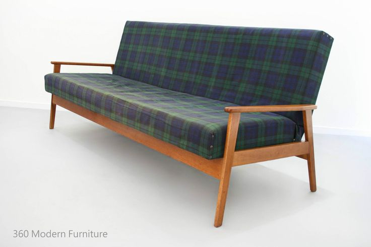 mid century modern sofa bed frame 3 seater couch retro vintage lounge