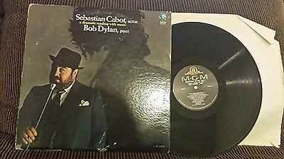 Sebastian Cabot, Actor LP A Dramatic Reading With Music Bob Dylan Poet 1967 M-
