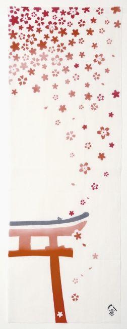 鳥居に桜 torii and cherry blossoms ¥1,300[+税]