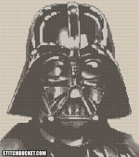 Darth Vader Star Wars Cross Stitch Pattern by StitchBucket on Etsy, $3.99