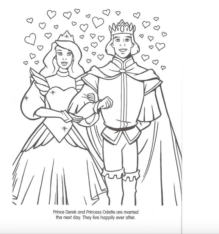 disney swan princess coloring pages - photo#43