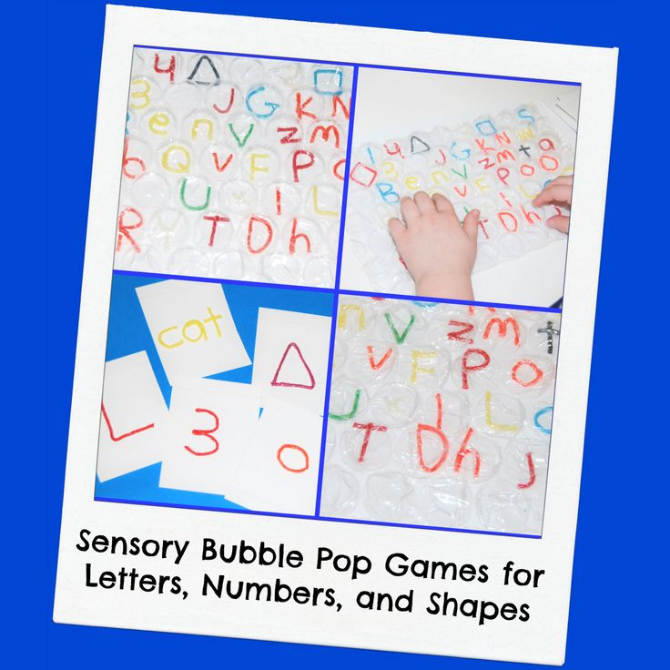 "POP the BUBBLES! With just a few simple supplies, kids can create fun bubble popping games that will encourage learning about letters, numbers, and shapes through sensory play. If your kids haven't tried Wikki Stix with bubble wrap, it's ""popping FUN"" for playful learning games."