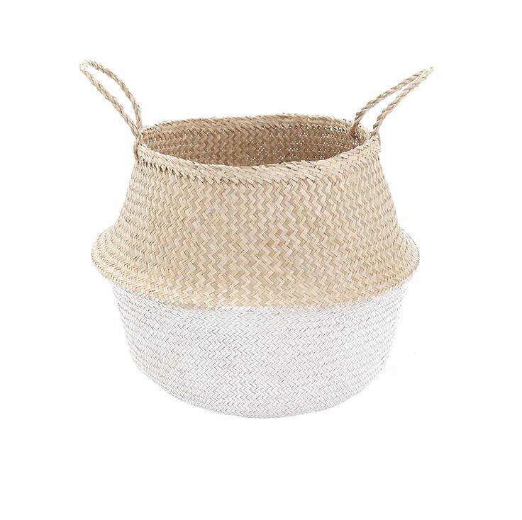 White Dipped Belly Basket-M