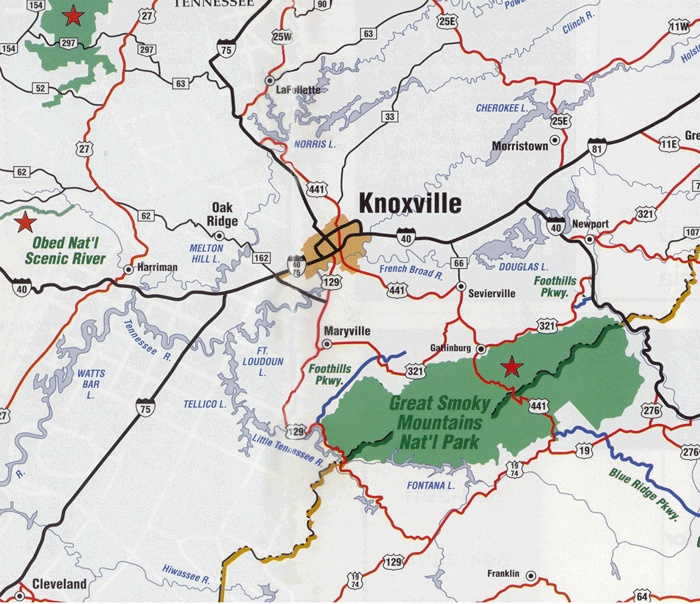 Image Detail For Maps Of Knoxville And East Tennessee