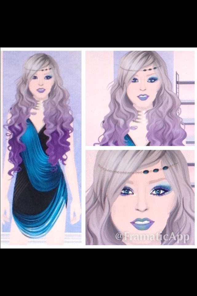 Here is my own mermaid inspired design I did for fun (website was called Stardoll :3). This is another mix n' match look with my own inspiration on the makeup.