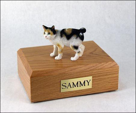 Cat, Japanese Bobtail, Tort/White TR200-590 Figurine Urn