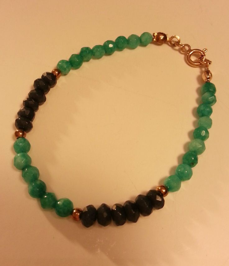 Jade,rose silver bracelet