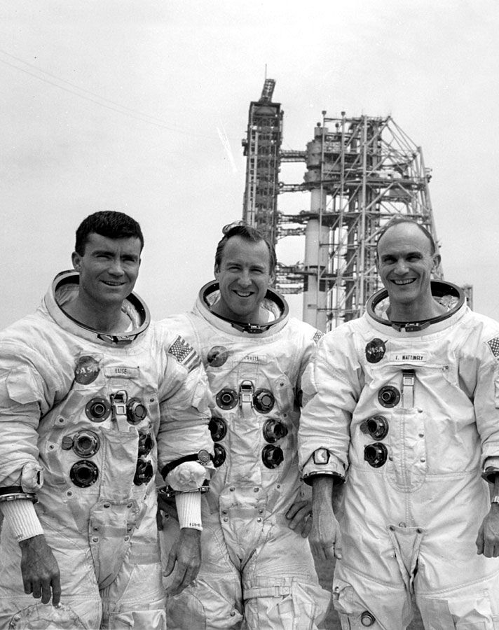 Fred W. Haise, Jr., James A. Lovell, Jr., Thomas K. Mattingly II, Apollo 13 (1970)