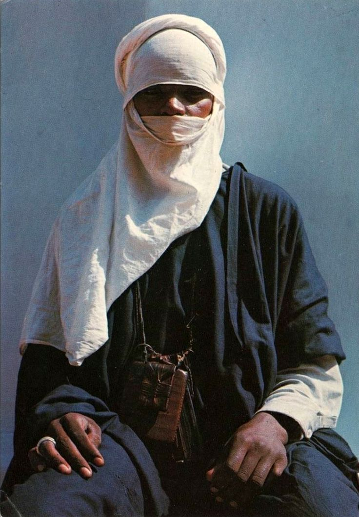 Africa | Tuareg Tribesman.  ca. 1970. | Scanned postcard; printed by J Arthur Dixon for Leventis Stores, Nigeria