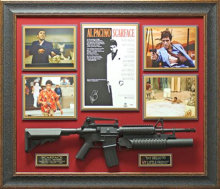 al pacino autographed scarface poster framed display