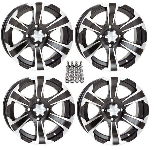 "ITP SS312 ATV Wheels/Rims Black 14"" Honda Foreman Rancher SRA. For product info go to:  https://www.caraccessoriesonlinemarket.com/itp-ss312-atv-wheelsrims-black-14-honda-foreman-rancher-sra/"