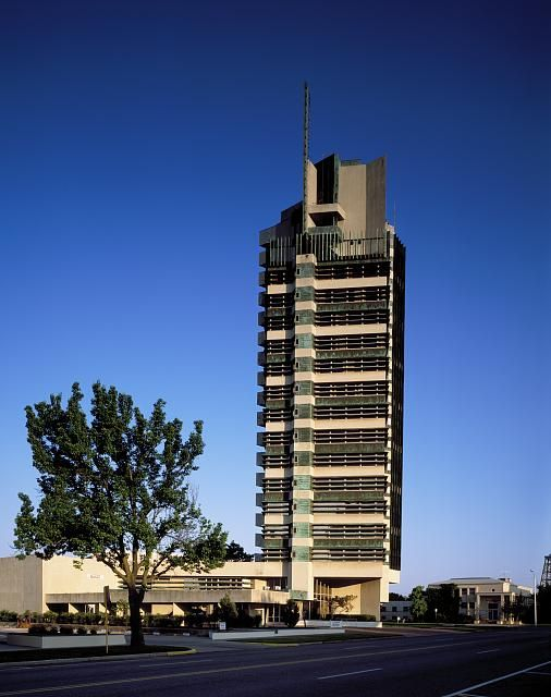 Price Tower, Bartlesville, Okla. Photograph by Carol M. Highsmith, [between 1980 and 2006 ...