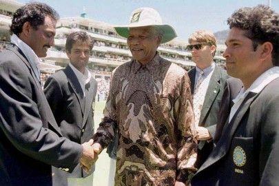Nelson Mandela, Sachin Tendulkar, Mohammad Azharuddin