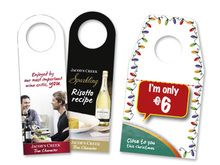Neck Collars - Attract attention to your product by hanging a promotional label around the neck.