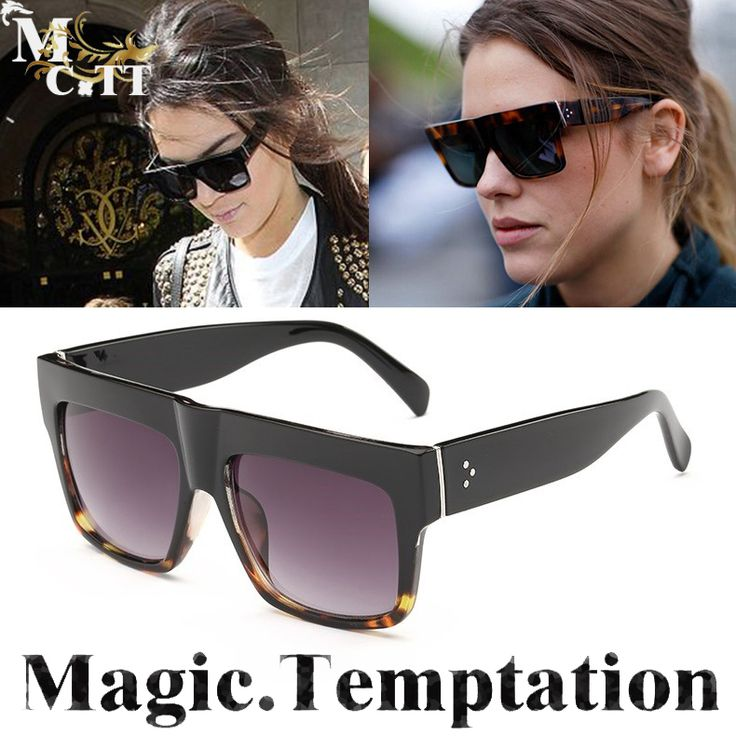 MCTT High Quality Kim Kardashian Sunglasses Women man Luxury Brand Designer Shades Flat Top Gafas Lunette De Soleil Feminino #women, #men, #hats, #watches, #belts