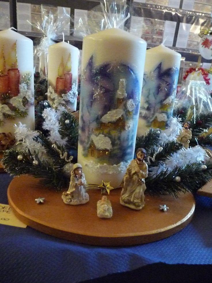 candele con natività