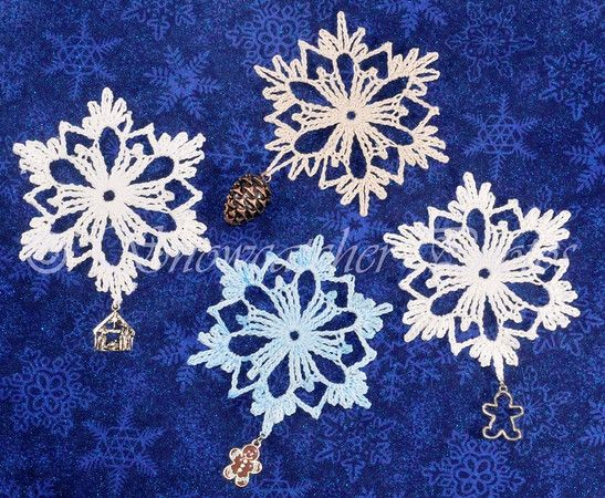 Charmed Snowflake - free crochet pattern from Snowcatcher., 6/15