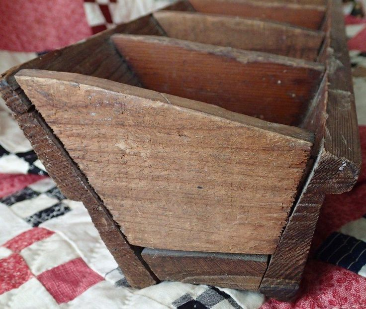 Wonderful Antique Wooden BOX with BINS Store Display Primitive Farm Table #Country #handmade