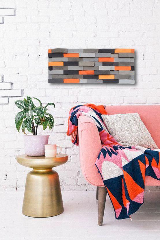 Obraz drewniany, dekoracje ścienne, drewniane dekoracje ścienne, ciekawe pomysły na ścianyt. Zobacz więcej na: https://www.homify.pl/katalogi-inspiracji/30131/6-pomyslow-aranzacji-domu-dla-milosnikow-roslin