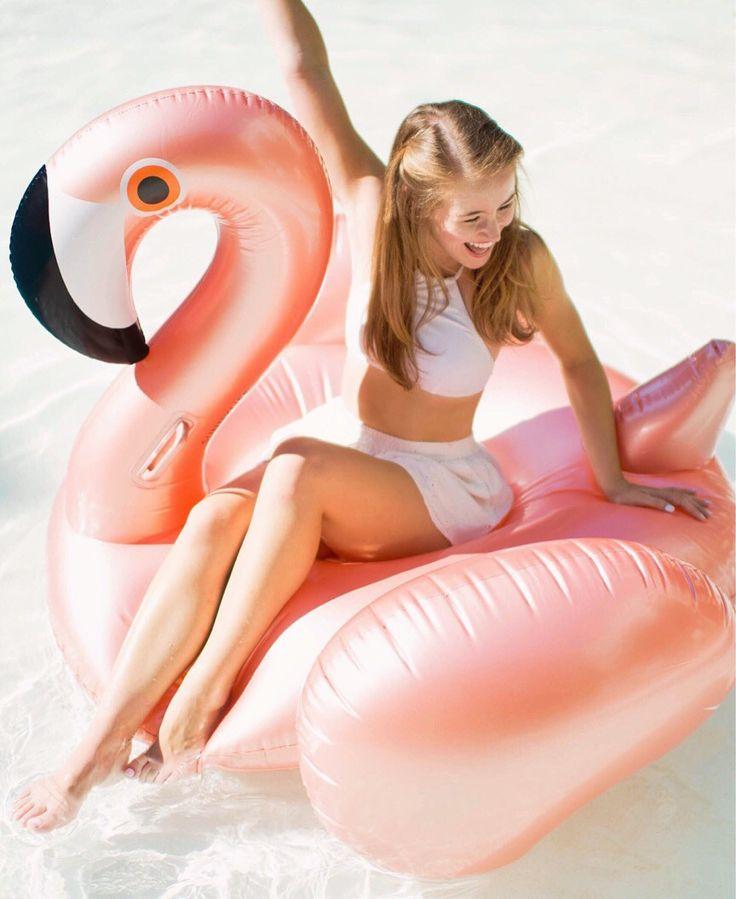 Image result for rose gold flamingo float