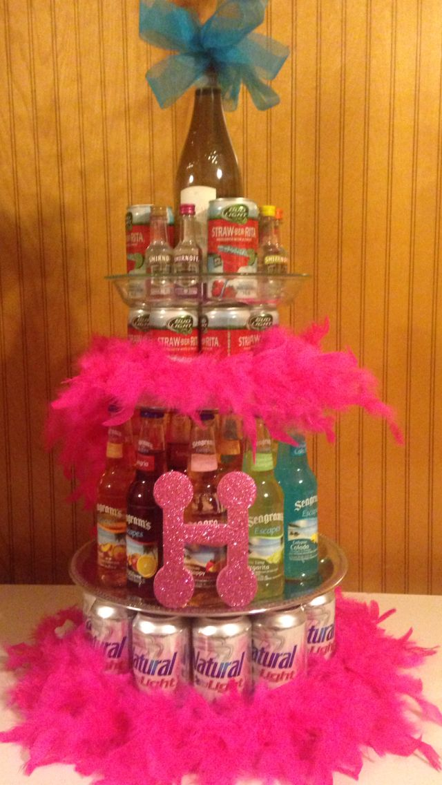 Birthday Alcohol Cake For Heather Holiday Pinterest Heather O Rourke Birthdays And Cakes