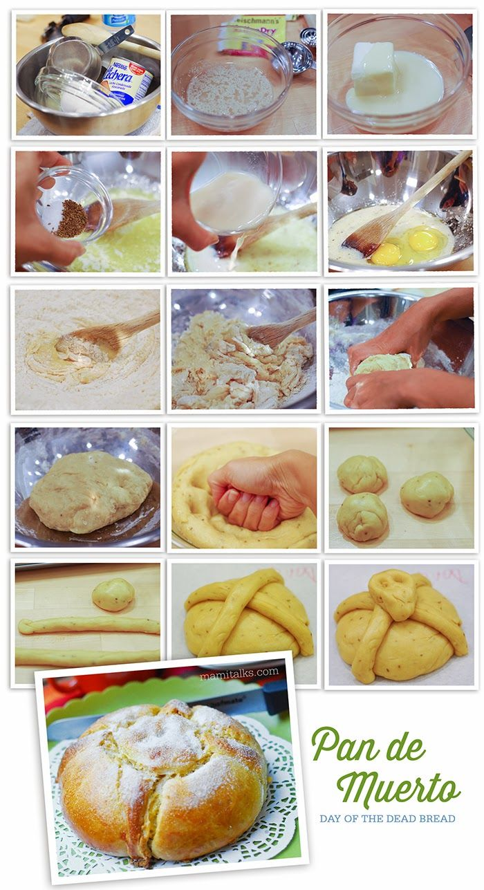 Pan de Muerto  - Day of the Dead step by step