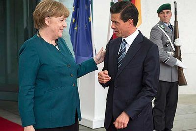 #MEXICO #SWD #GREEN2STAY Chancellor Merkel, Mexico's new Amiga Some say her visit to Mexico today is to show political muscle to Donald Trump Mexico News Daily | Friday, June 9, 2017 German Chancellor Angela Merkel will arrive in Mexico today on her second stop of a three-day Latin America trip with trade and investment set to take center stage in talks with her counterpart, Enrique Peña Nieto.  - See more at…