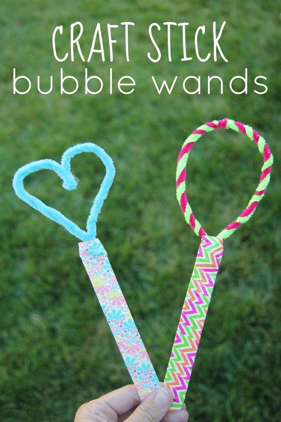 Homemade Bubble Wands for Kids from Toddler Approved                                                                                                                                                     More