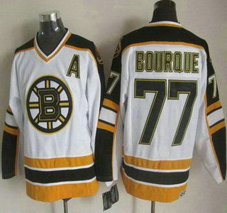 me sale boston bruins jersey 77 ray bourque white ccm vintage throwback jerseys