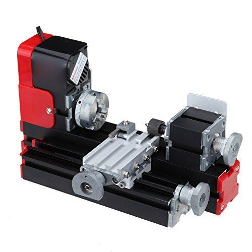 Iglobalbuy Motorized Metal Mini Lathe Machine Woodworking DIY Power Tools Hobby Sience Education Modelmaking,7 x 12-Inch:   Product Overview brThe Mini Metal Lathe is a tool for DIY,hobby,modelmaking,crafts,students,small parts processing and others. Can NOT be used for high accuracy machining of industrial grade. DO NOT suitable for buyer that has high precision requirement. br brLathe Features: brTailstock special design and built-in bearing for more comfortable use. brBuilt-in overh...