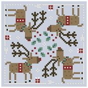 Cross-stitch biscornu ... no color chart available, just use the pattern chart as your color guide.. or choose your own colors...     The Floss Box | Biscornu 644 Pdf pattern