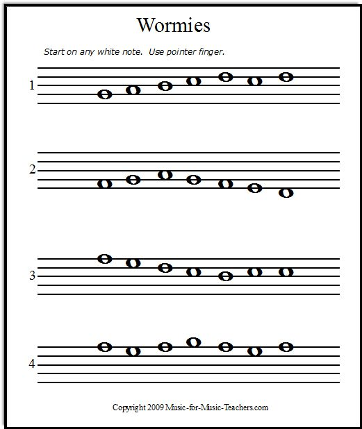FREE Printable Music Notes For Helping Beginner Piano