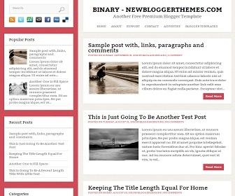 Binary Blogger Template