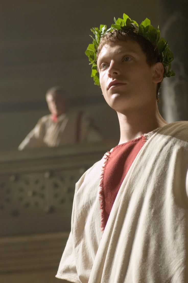 "Gaius Octavian - Simon Woods in Rome, set between 49 BC and 31 BC (TV series 2005-2007). >> Reminds me if my published novel ""Slave to the Emperor"" which takes place in Ancient Rome in 160 AD."