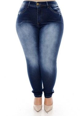 1dc1f18d5 Calça Cigarrete Jeans Plus Size Vanissy   Stuff to buy in 2019 ...
