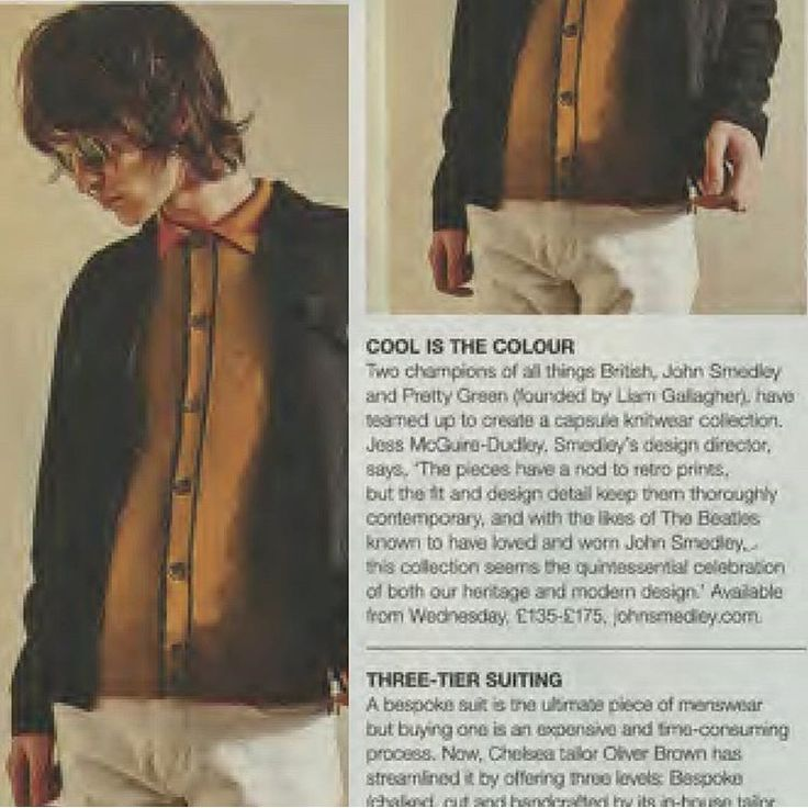 Our collaboration with Pretty Green featured in The Telegraph Magazine. #Pretty Green