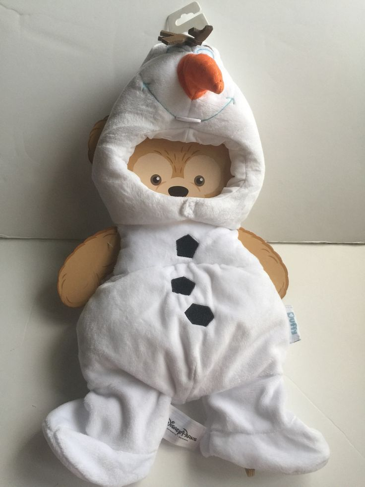 """disney parks frozen olaf costume outfit for 17"""" duffy bear new"""