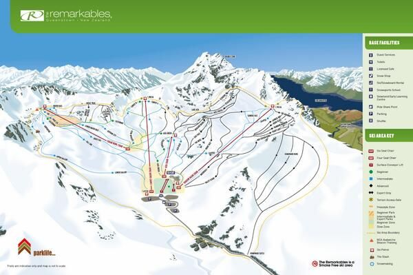 Remarkables 2014 Trail Map
